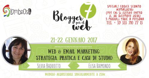 Corso 7 Blogger per il web Torino 2016
