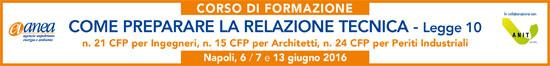 Come preparare relazione tecnica legge 10 Napoli 2016
