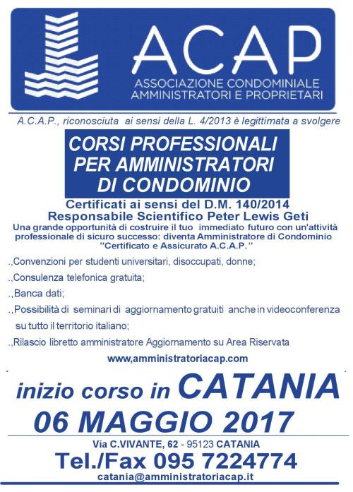 Corsi per amministratori di condominio Catania 2017