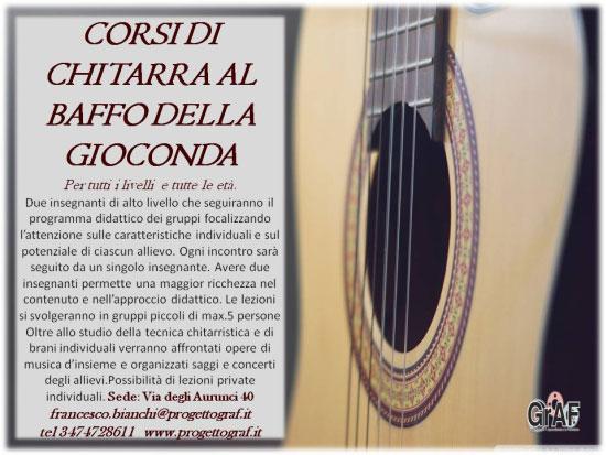 Corsi chitarra Roma Baffo della Gioconda