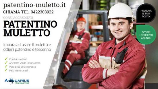 Corsi patentino muletto Verona