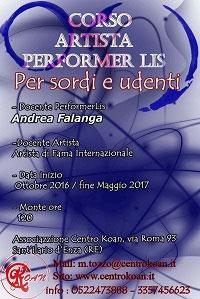 Corso Artista Performer LIS Reggio Emilia 2016 2017