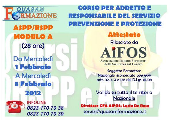 Corso ASPP RSPP Santa Maria Capua Vetere