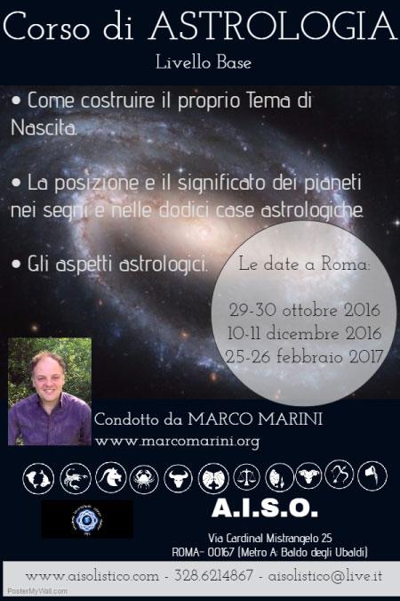 Corso Astrologia Roma 2016 2017 Marco Marini