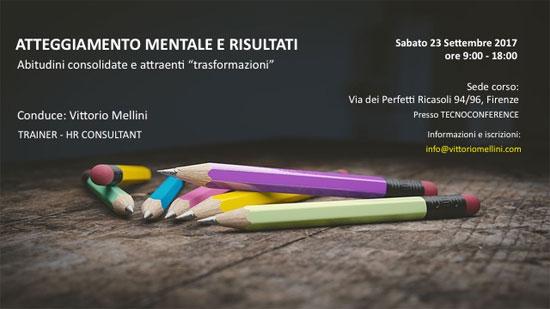 Corso atteggiamento mentale e risultati Firenze 2017