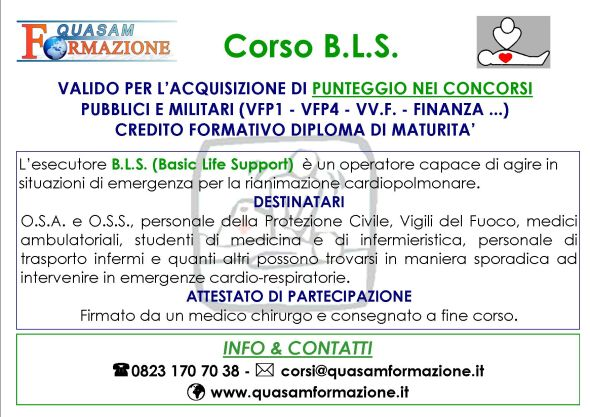 Corso BLS Maria Capua Vetere