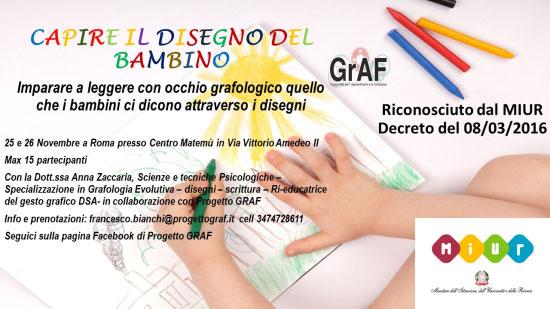 Corso capire disegno bambini Roma 2017