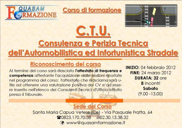 Corso consulenza e perizia tecnica dell'automobilistica e infortunistica stradale