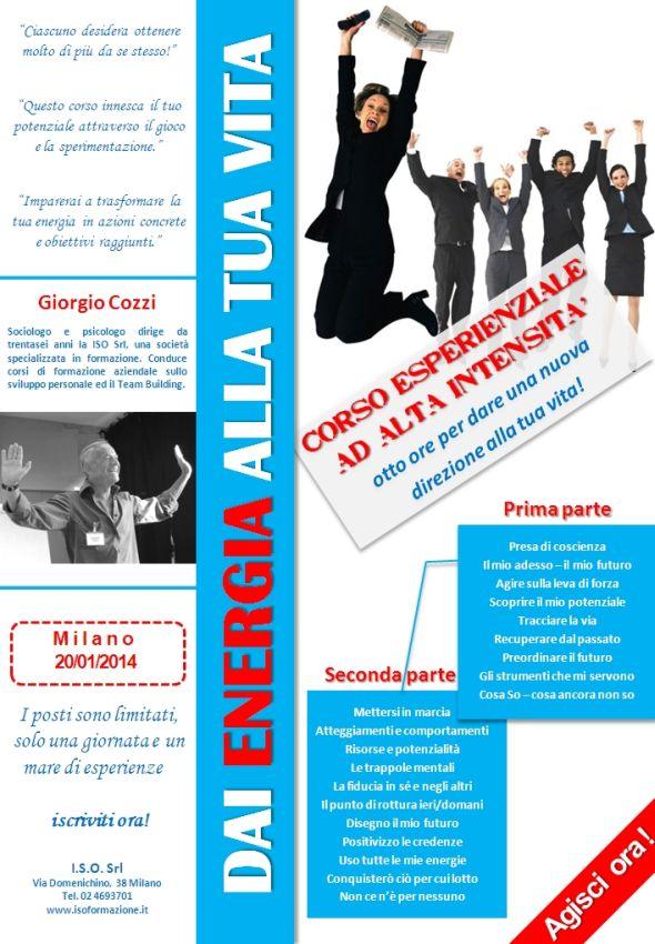 Corso Milano Dai Energia Alla Tua Vita Giorgio Gozzi