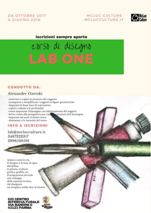 Lab One Corso disegno Parma 2017 2018