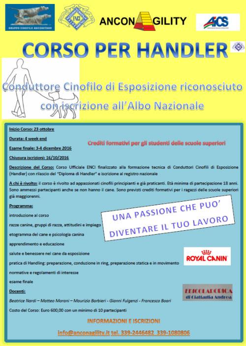 Corso Dog Handler Ancona 2016