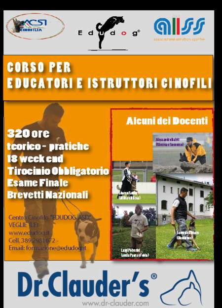 Corso Educatori Istruttori Cinofili Veglie (Lecce) 2015