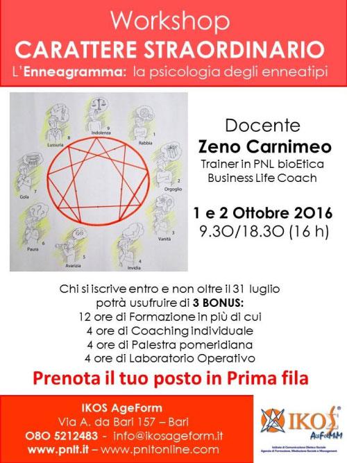 Corso enneagramma Bari 2016