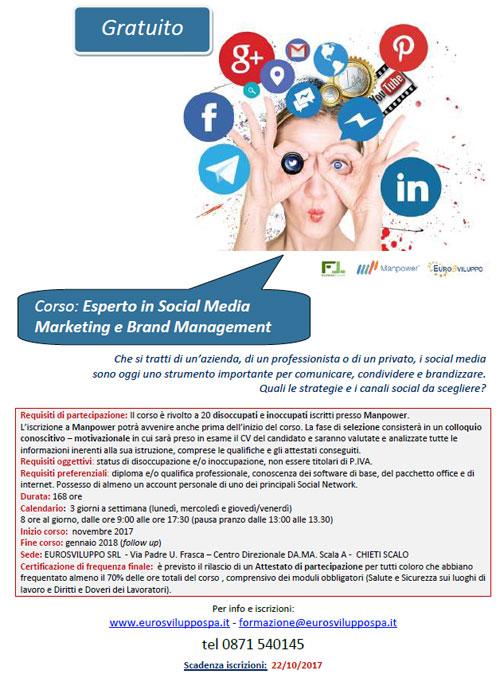 Corso Esperto in Social Media Marketing e Brand Management Chieti 2017 2018