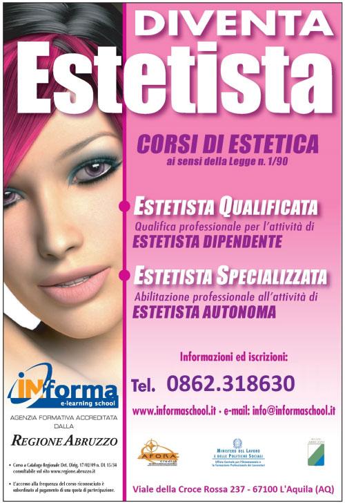 Corso Estetista Qualificata L'Aquila 2016 2017 2018
