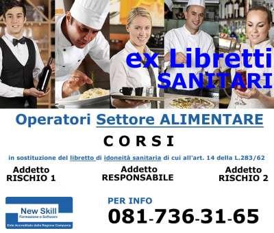 Corso alimentaristi libretto sanitario Napoli