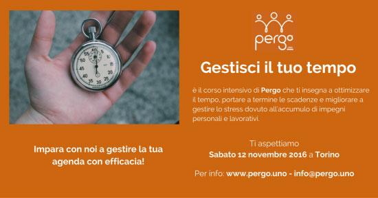 Corso gestione tempo Torino 2016