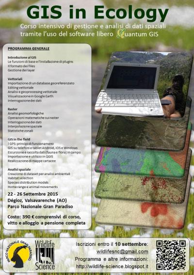 Corso Sistemi Informativi Territoriali GIS Ecologia 2015 Aosta