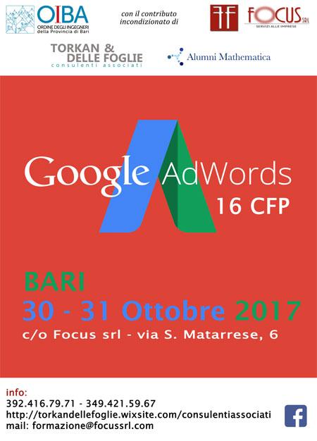 Corso Google AdWords Bari 2017