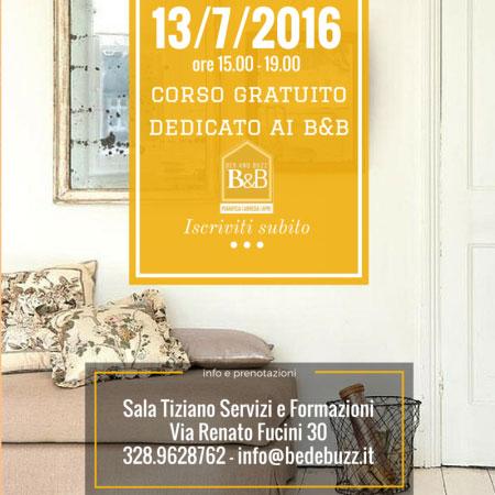 Corso gratuito gestione bed and breakfast Roma 2016