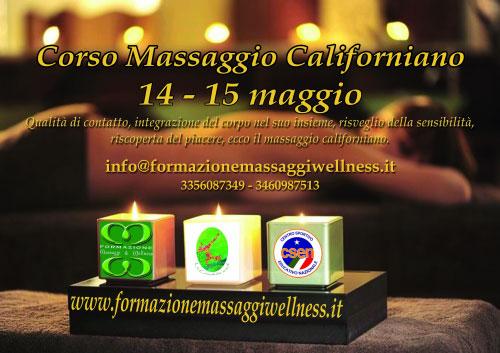 Corso Massaggio Californiano Roma 2016