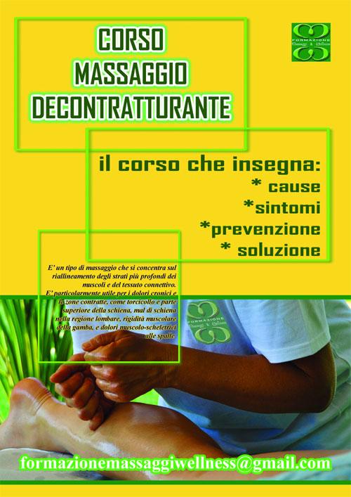 Corso Massaggio Decontratturante Roma 5-6 novembre 2016