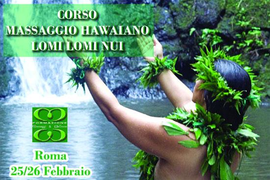 Corso Massaggio Hawaiano Lomi Lomi Nui Roma 2017
