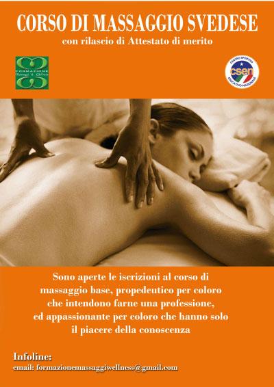Corso Massaggio Svedese Roma 2016