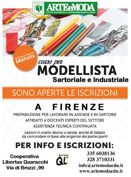Corso Modellista Sartoriale e Industriale Firenze 2017