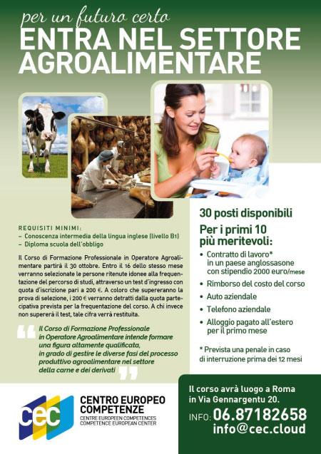 Corso Operatore Agroalimentare Roma 2017