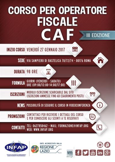 Corso Operatore Fiscale CAF Roma 2017
