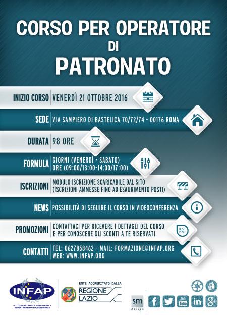 Corso Operatore di Patronato Roma 2016