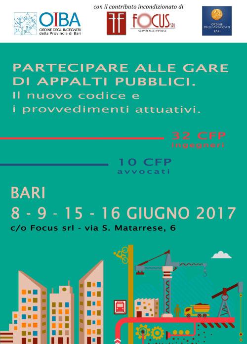 Corso Partecipare Gare Appalti Pubblici Bari 2017