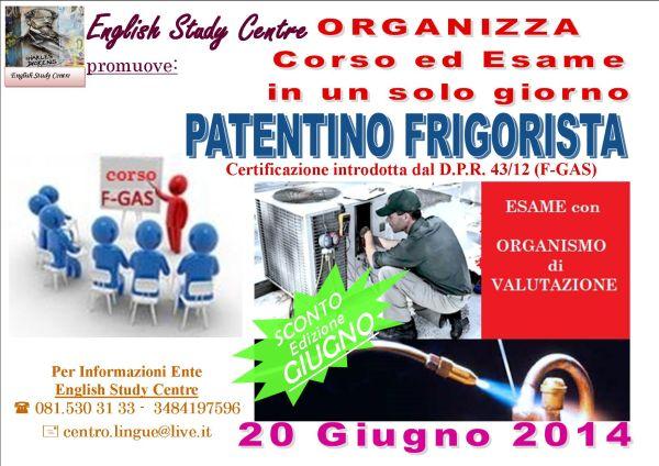 Corso Patentino Frigorista Napoli