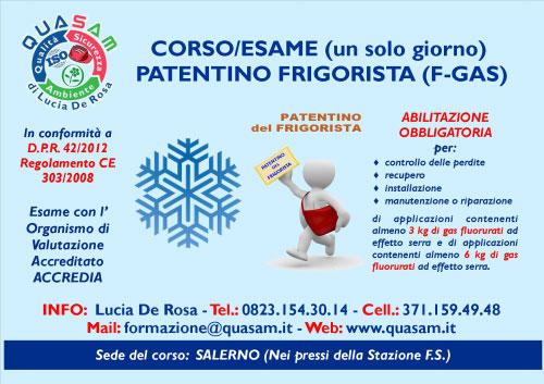 Corso Patentino Frigorista Salerno