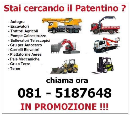 Corsi patentino macchine movimento terra Pagani (Salerno)
