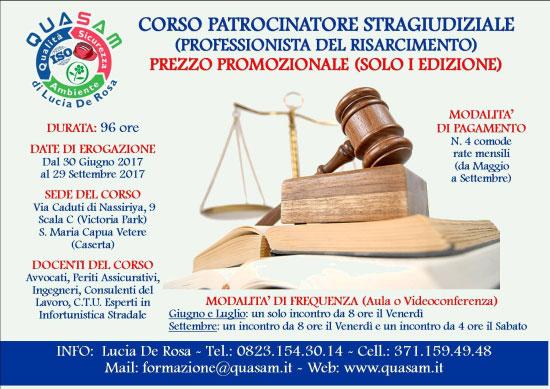 Corso Patrocinatore Stragiudiziale a Santa Maria Capua Vetere (Caserta) 2017
