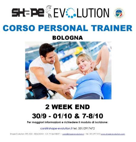 Corso personal trainer Bologna 2017