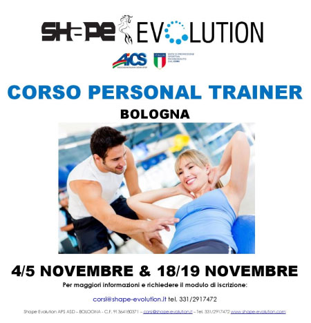 Corsi Personal Trainer Bologna 2017