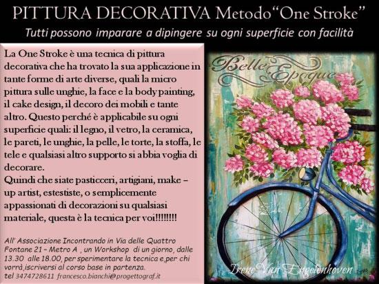Corso pittura decorativa One Stroke Roma 2017