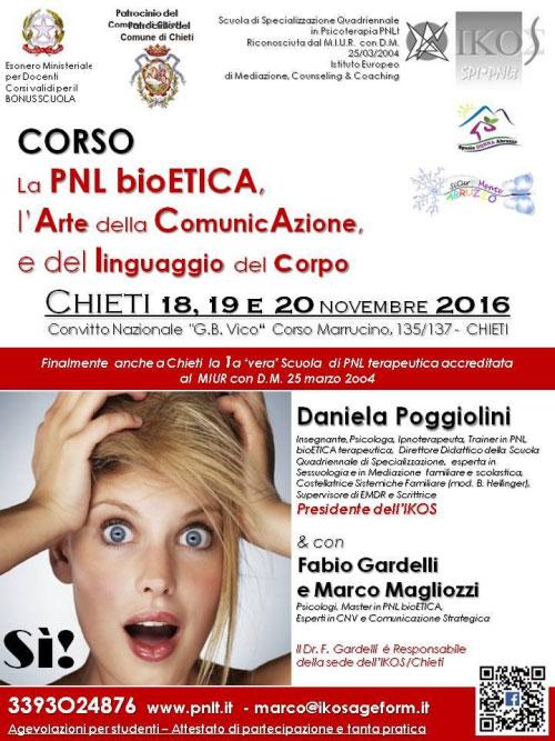 Corso PNL BioEtica Chieti 2016