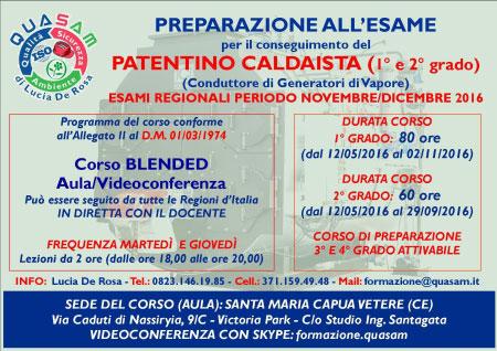 corso preparazione esame patentino caldaista 2016 Santa Maria Capua Vetere Caserta