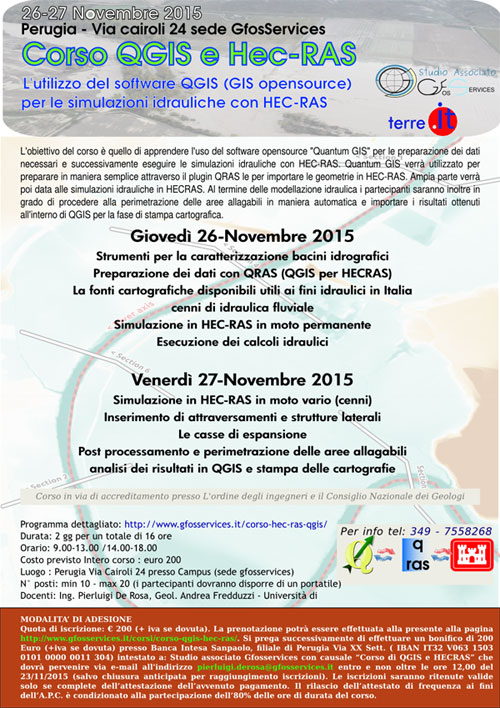 Corso QGIS e HEC-RAS Perugia 2015