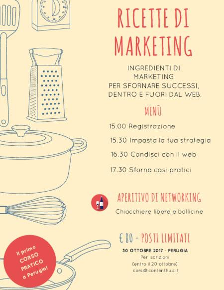 Corso Ricette di Marketing Perugia 2017