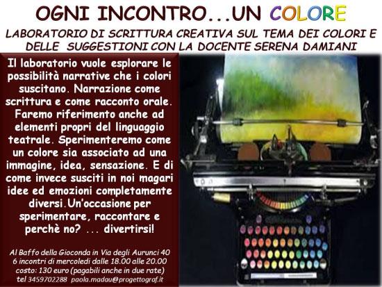 Corso scrittura creativa e colori Roma 2017