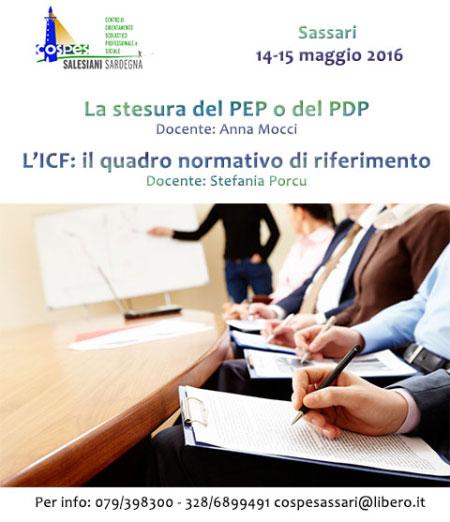 Corso stesura PEP o PDP Sassari 2016