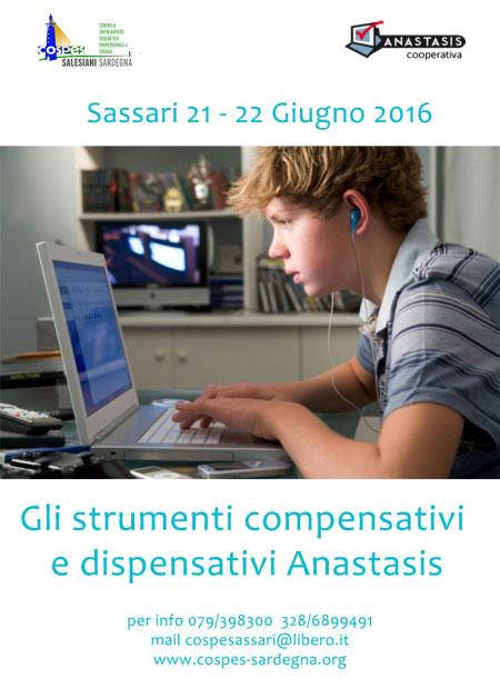 Corso strumenti dispensativi e compensativi Anastasis Sassari 2016