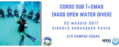 Corso sub Pavia 2017