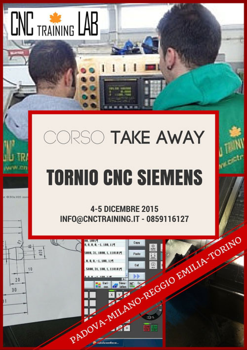 Corso Take Away Tornio CNC Siemens