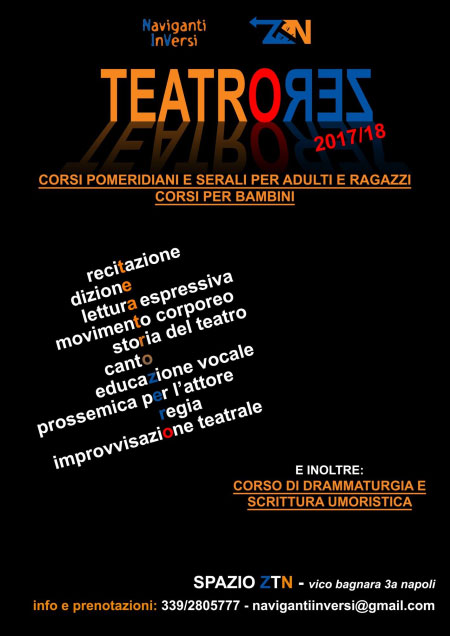 Corso Teatro Zero Napoli 2017 2018